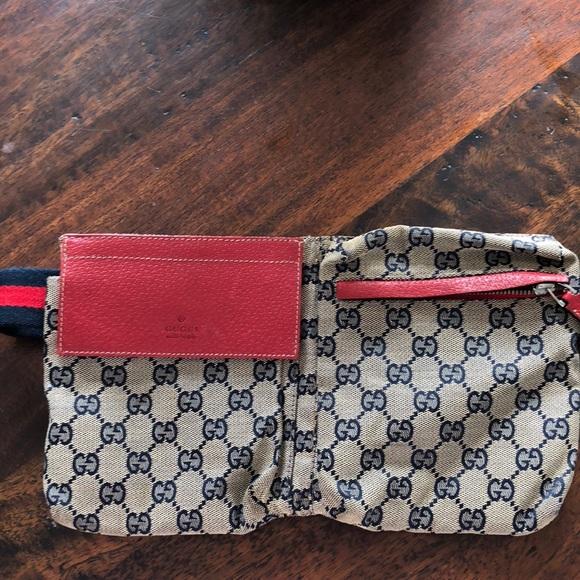 96b0a4c697e3 Gucci Handbags - Gucci Waist Bag Monogram GG Web Strap Beige